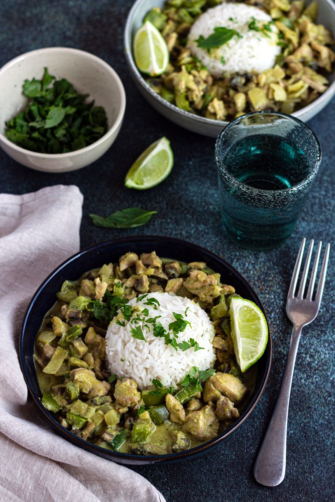poulet curry vert