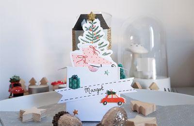 Des marque-places pour la table de Noël