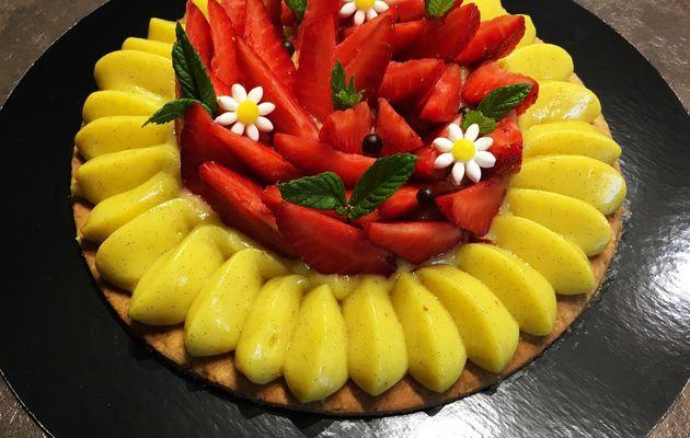 Tarte fine et fraîche aux fraises