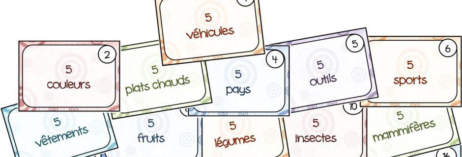 5 au quotidien, atelier d'écriture, la liste: 5..., 10...