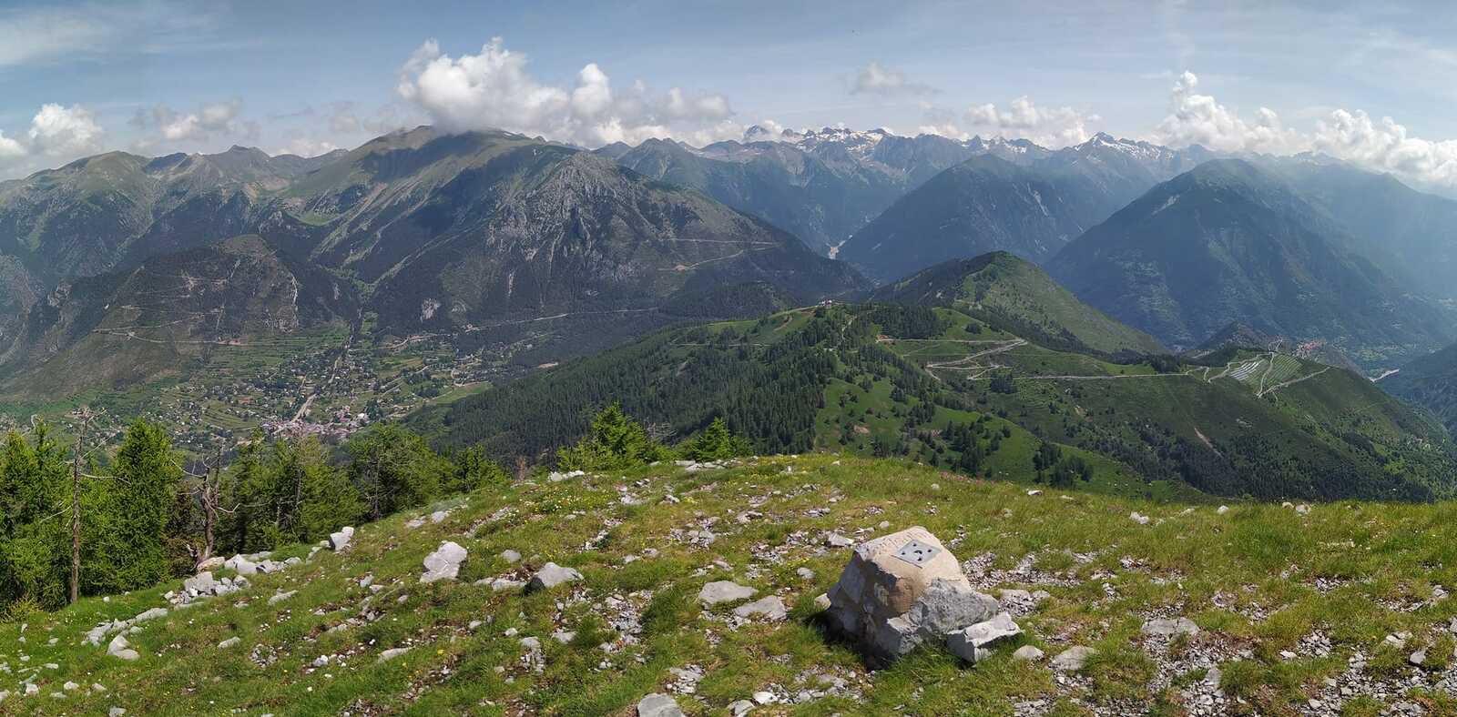Point de vue depuis le sommet