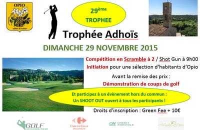 2015 Coupe Adhoïs