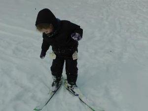 1er pas sur les skis: la tite lutine