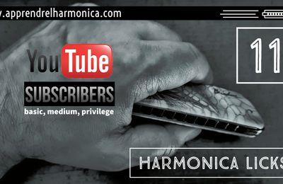 Harmonica licks - Harmonica C - 09 10 11 12 et 13