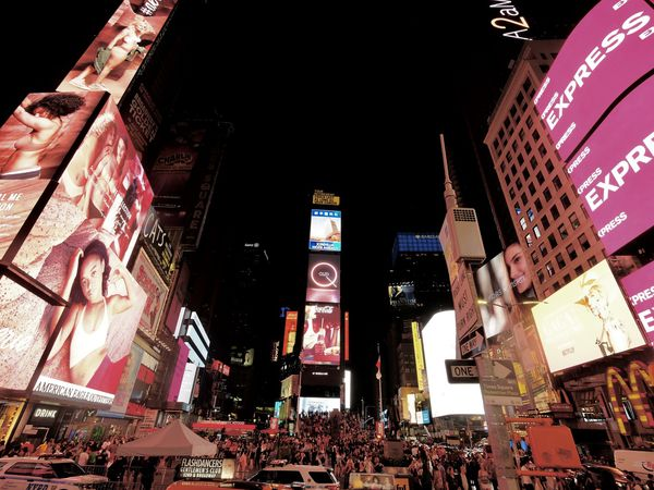 Time Square la nuit....