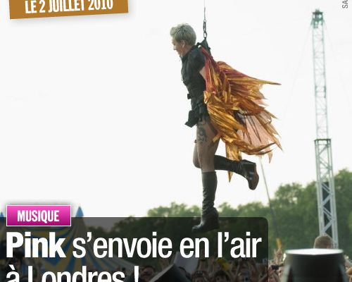 Pink s'envoie en l'air à Londres !