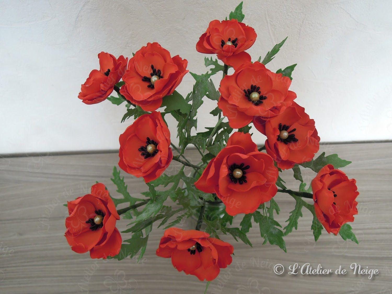 084 - Bouquet de Coquelicot en Foamiran Maman Kim