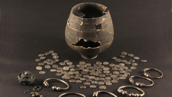 Archaeologists find treasure trove in Roman pot during roadworks near The Hague