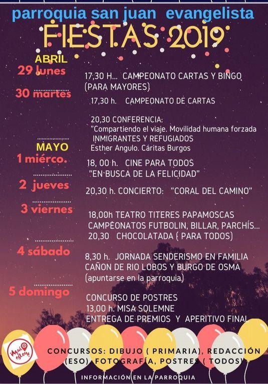 Fiestas parroquiales 2019
