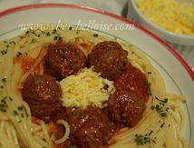 Spaghetti bolognaise aux boulettes de viande