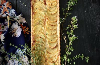 Tarte aux pommes de terre et au gorgonzola
