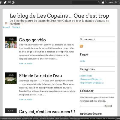 Le blog de Les Copains ... Que c'est trop bien !!