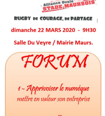 Forum du Stade Maursois à Maurs