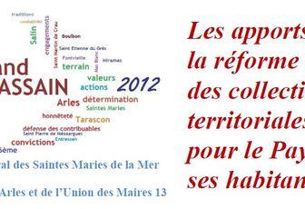 Les apports de la réforme des collectivités territoriales pour le Pays d'Arles