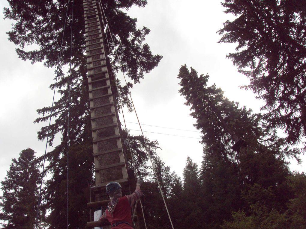 Activités camp 2011 Laser game Cinéma séance 3D Accrobranche Canöe lac