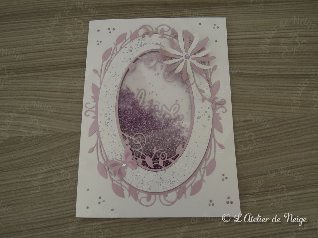 Flower In Love : Shaker Card (Photos et Vidéo Youtube)