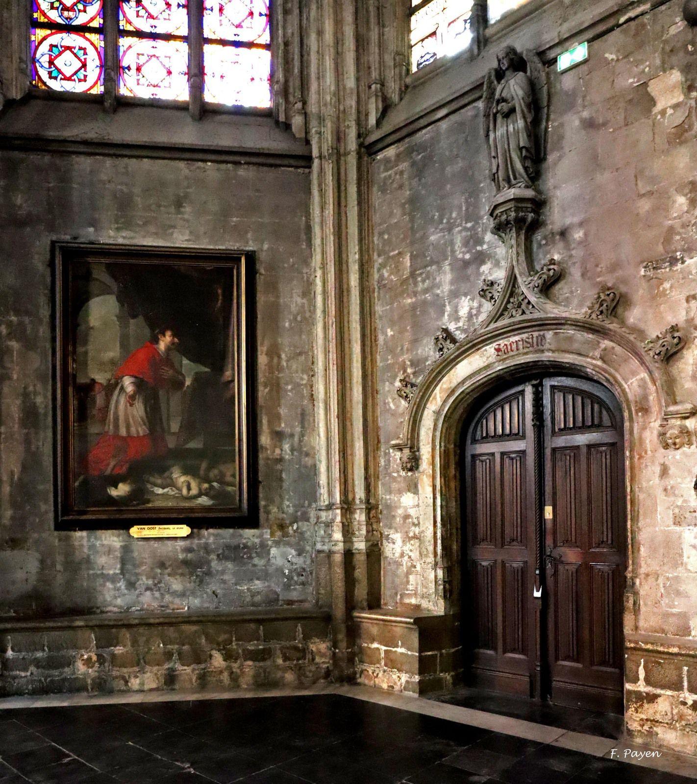 sacristie et autel Sainte-Barbe