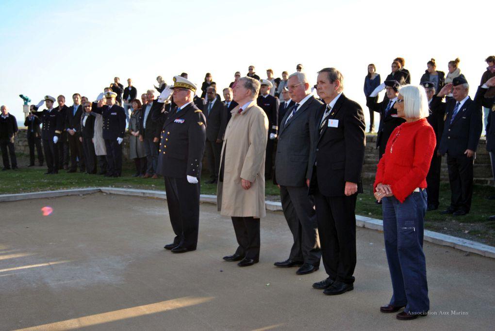 23 octobre 2013-Cérémonie à la mémoire des marins de la marine marchande morts pour la France à l'occasion de la venue du conseil supérieur de la marine marchande. Photographies : Yves Laumond
