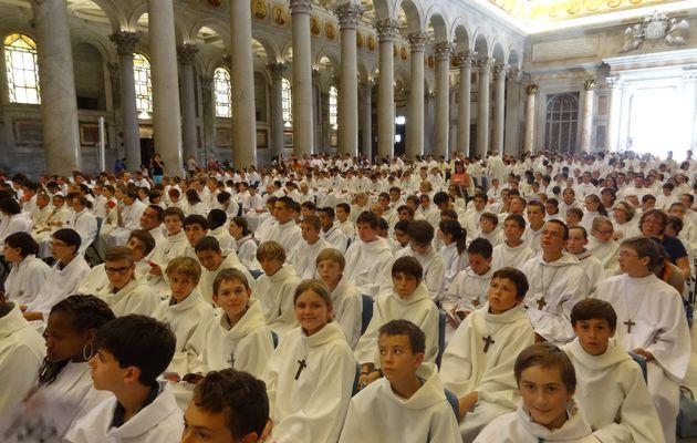 Pèlerinage national des servants d'autel de France à Rome