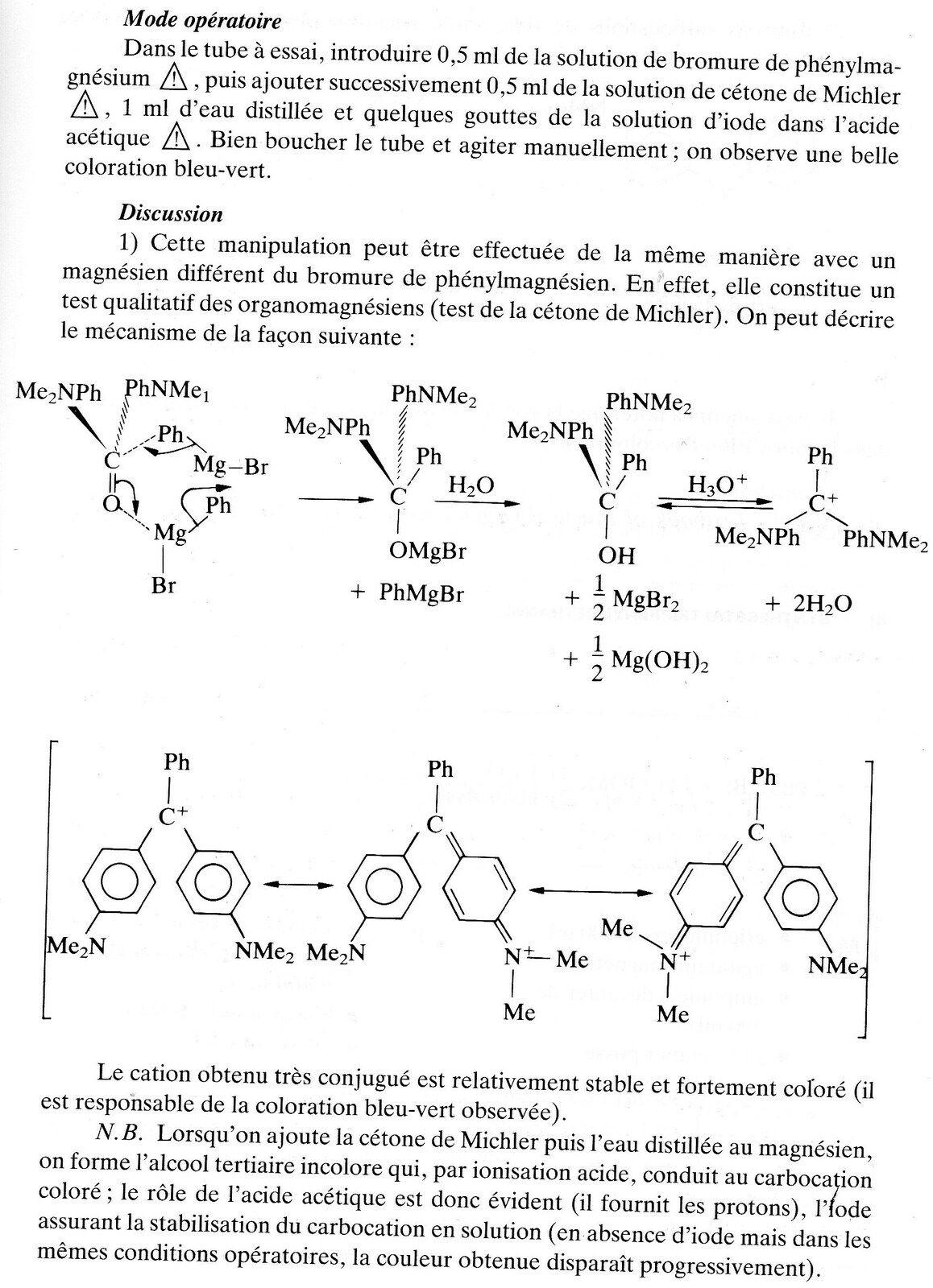 synthèse du vert malachite (voir 219- synthèse du vert mamachite)