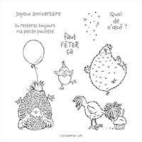 155130 set de tampons Salut poulette stampin up scrap carterie loisirs créatifs france europe diy
