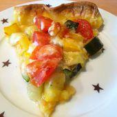 Tarte aux légumes au deux courgettes (jaune et verte)