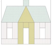 Courthouse or common house, quilt block