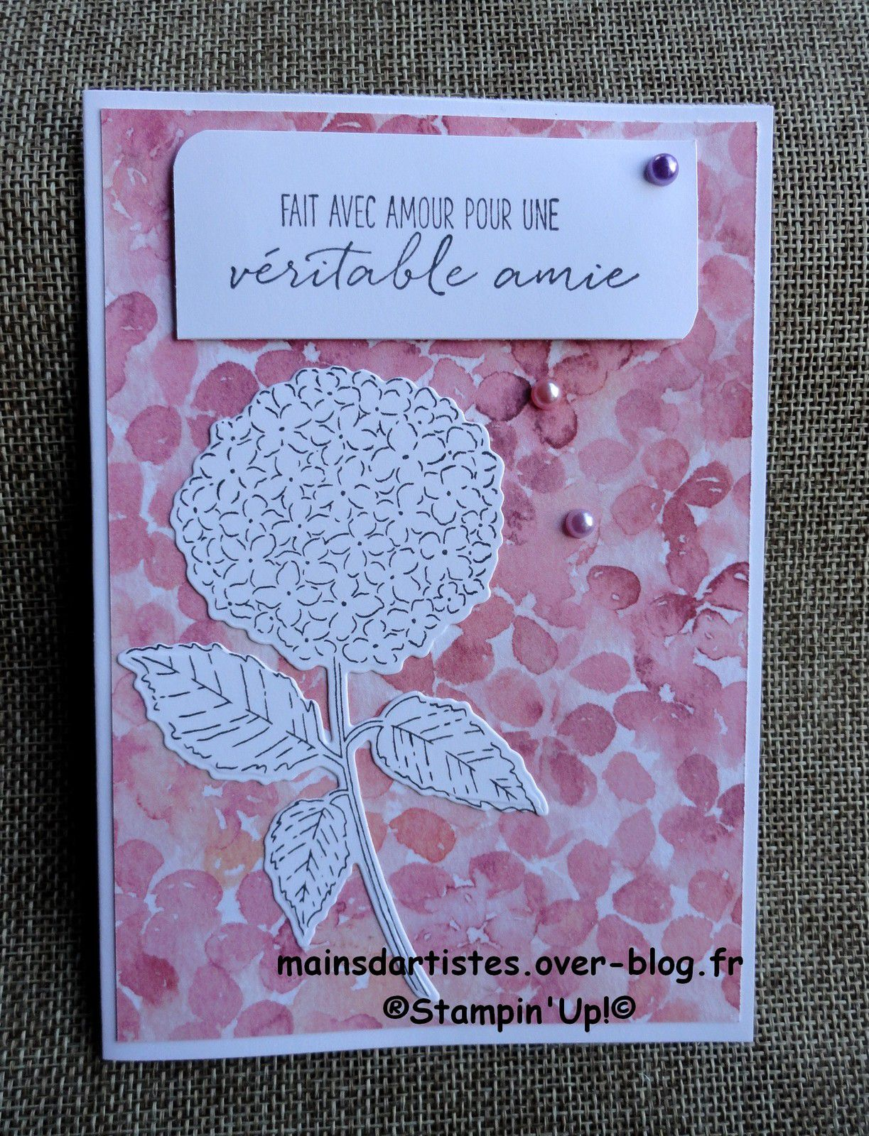 LOT,COLLINE D'HORTENSIAS,STAMPIN'UP!