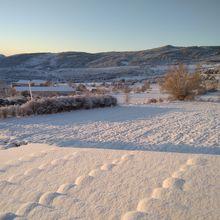 Robion , sous la neige en décembre