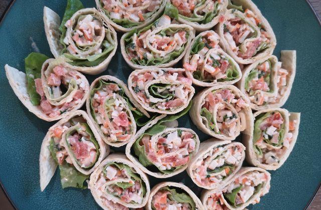 Roulés de tortilla frais au surimi sans cuisson