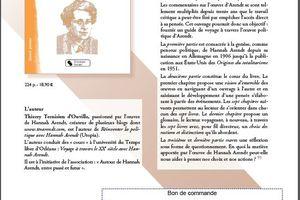 Penser avec Hannah Arendt, guide de voyage à travers une oeuvre : disponible depuis le 8 juin