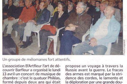 La Presse en parle... La Manche Libre du 18 avril 2009