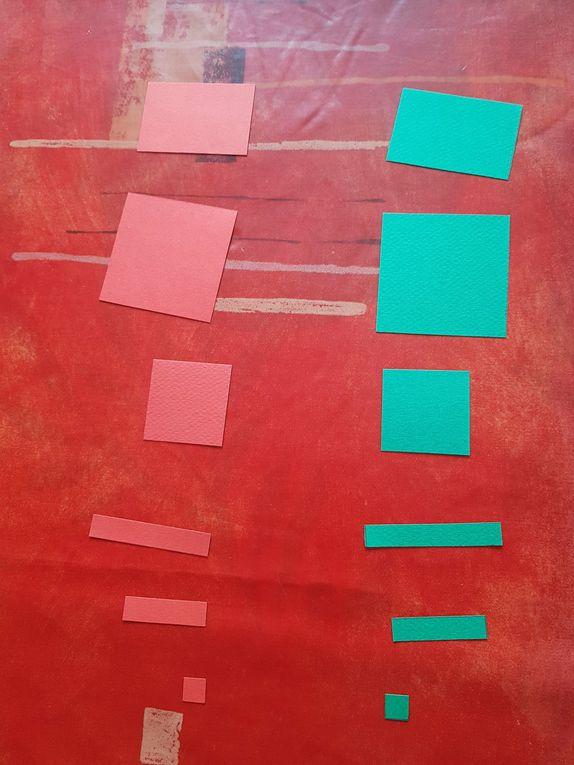 Les petits carrés représentent les unités. Les petits rectangles représentent les x. Les grands rectangles représentent les y. Les carrés de taille moyenne représentent x² et les grands carrés représentent les y². Les gros rectangles représentent xy.