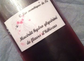 Macérât hydroglycériné de fleurs d'hibiscus