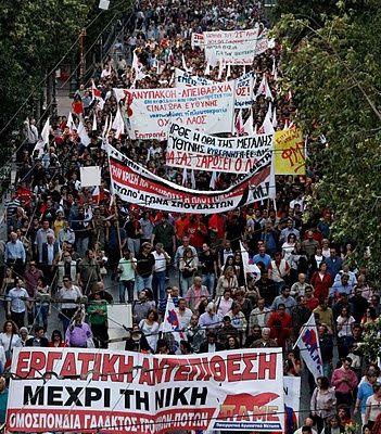 Nouvelles manifestations du PAME ce 6 mai contre la casse des acquis populaires