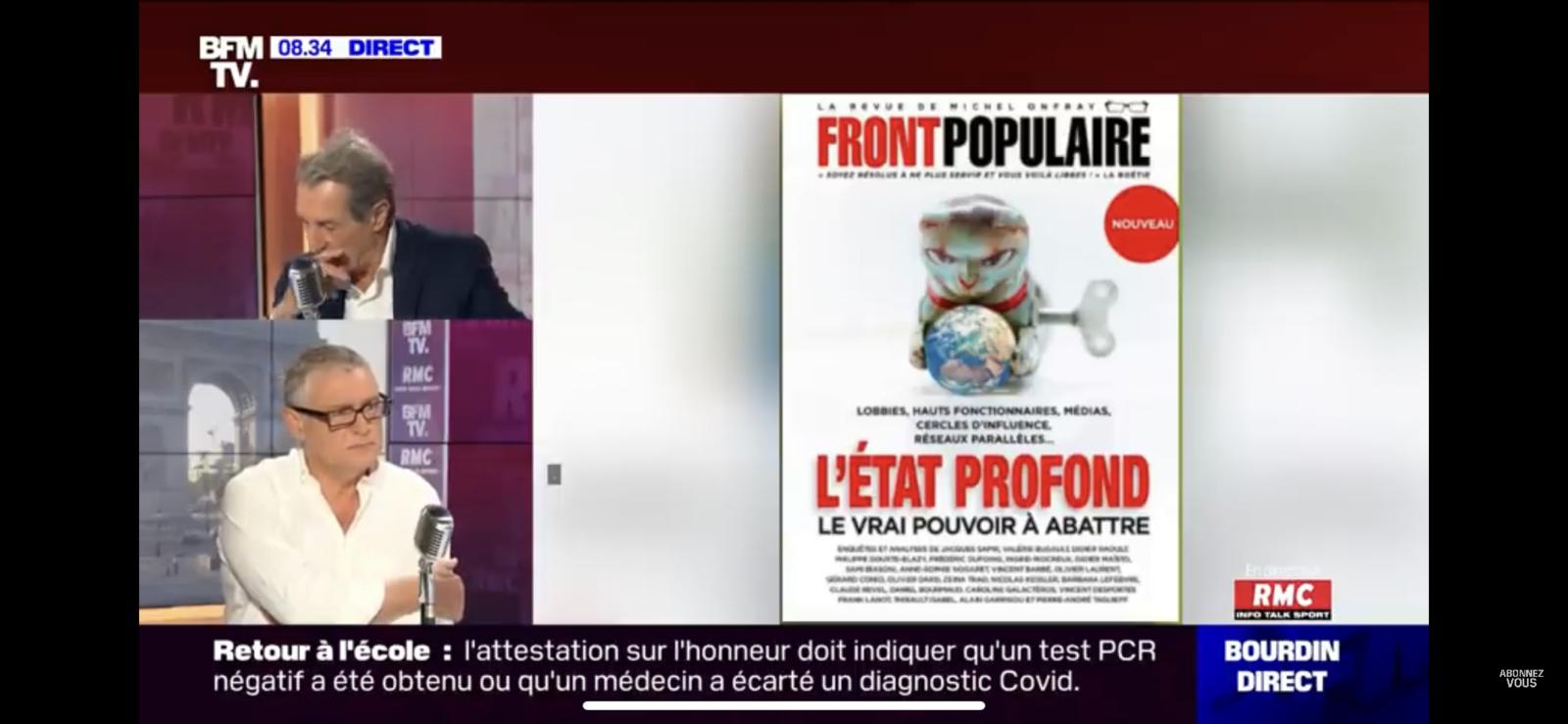 Michel Onfray - Bourdin Direct (BFMTV RMC) - 16.09.2020