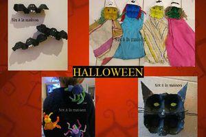 Décorations d'Halloween avec des boites à œufs