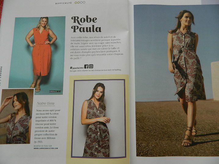 la robe Paula, un modèle simple mais qui peut être sympa réalisée en wax