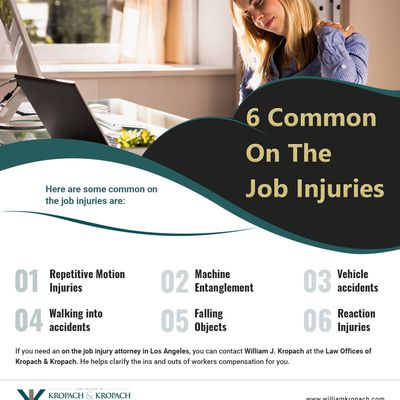 6 Common On The Job Injuries