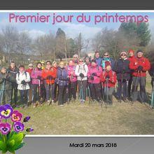 Marche nordique mardi 20 mars 2018 Sérignan du comtat