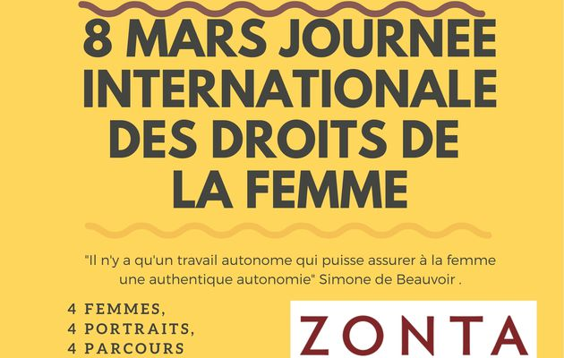 Journée internationale  des droits de la femme 2021 Zonta Béziers Domitia s'impatiente ;-)