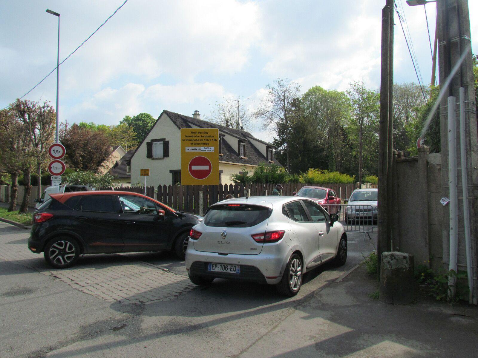 Fermeture des entrées bords de Marne à Chelles