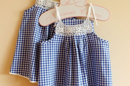 Gingham Dress with C