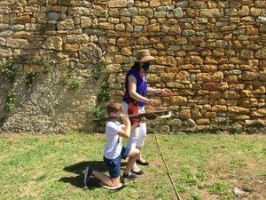 Journée à Castelnaud des CE1-CE2, suivie d'une balade en gabare.