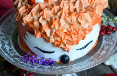Fox cake - gâteau en forme de renard