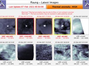 Raung - thermal anomalies at 07.02.2021 / 05h50 Doc. Mirova _MODIS - one click to enlarge