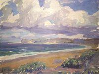 Couvent des Récollets / vue de Ciboure / le tableau de la rue de l'escalier est de René Choquet / Saint Jean de Luz, la plage, Sainte-Barbe