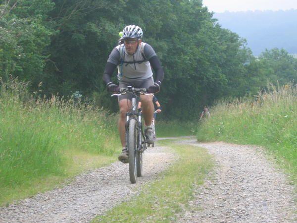 rando VTT à thury arcourt en suisse normande.