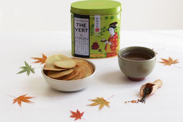 Tuiles au thé vert matcha & genmaïcha thé vert du Japon, le thé de l'hospitalité ♥