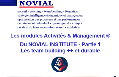 LES TEAM BUILDING ACTIVITE & MANAGEMENT - PARTIE 1